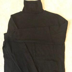 Size LARGE black turtleneck sweater